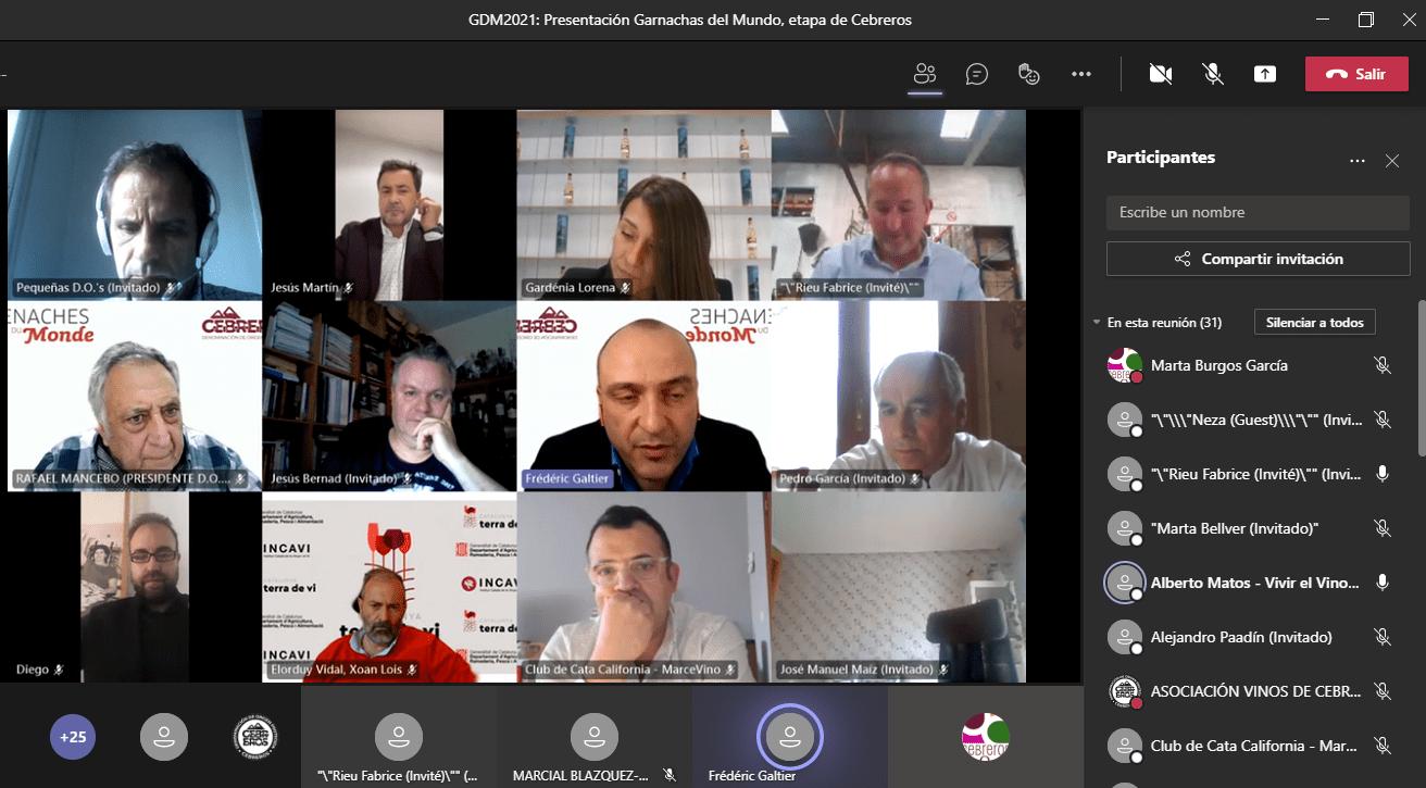 Presentación Online Grenaches du Monde en Cebreros